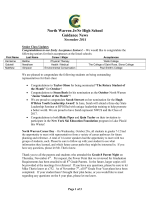 Newsletter - North Warren Central School