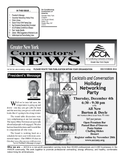 Newsletter - December 2014 - ACCA Greater New York Chapter