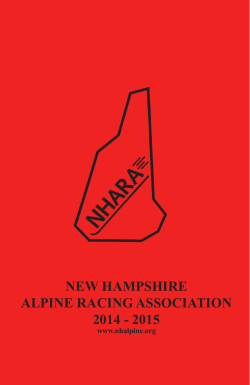 NEW HAMPSHIRE ALPINE RACING ASSOCIATION 2014 - nhara