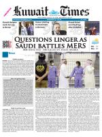 Questions linger as Saudi battles MERS Min 15º - Kuwait Times