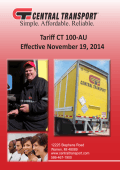 Tariff CT 100-AU Effective November 19, 2014 - Central Transport