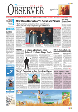 We Were Not Able To Do Much: Sonia - Kashmir Observer