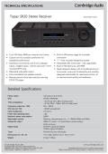 Topaz SR20 Stereo Receiver Detailed - Cambridge Audio