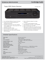 Topaz SR20 Stereo Receiver Detailed - Cambridge Audio