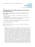 Cannabinoids,New Promising Agents in the Treatment of Neurological Diseases